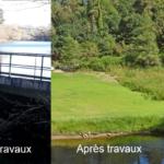 Restauration de la continuité écologique sur le Sal à Plougoumelen.